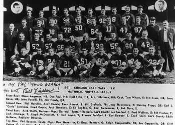Image result for 1951 chicago cardinals